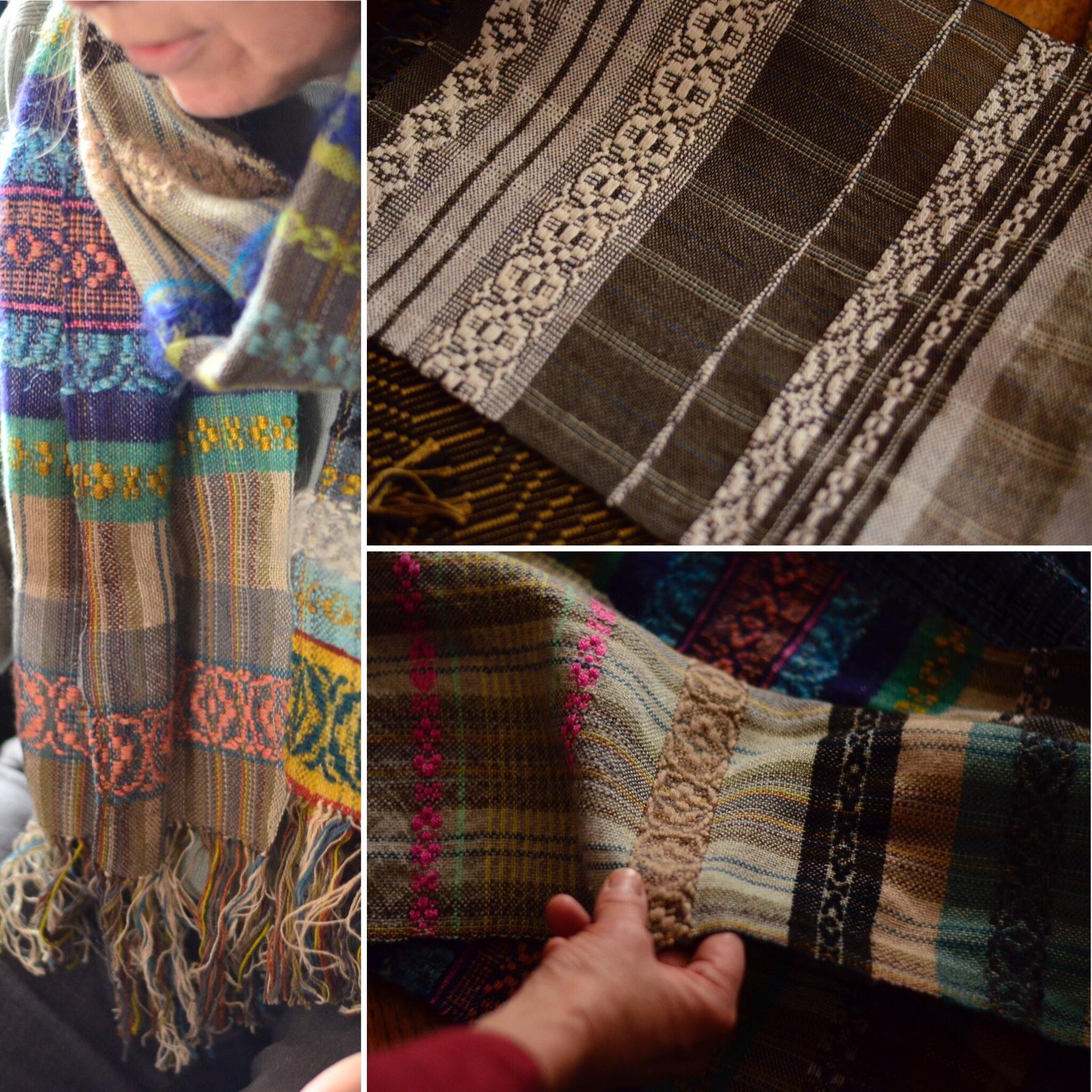 Susan's overshot scarves