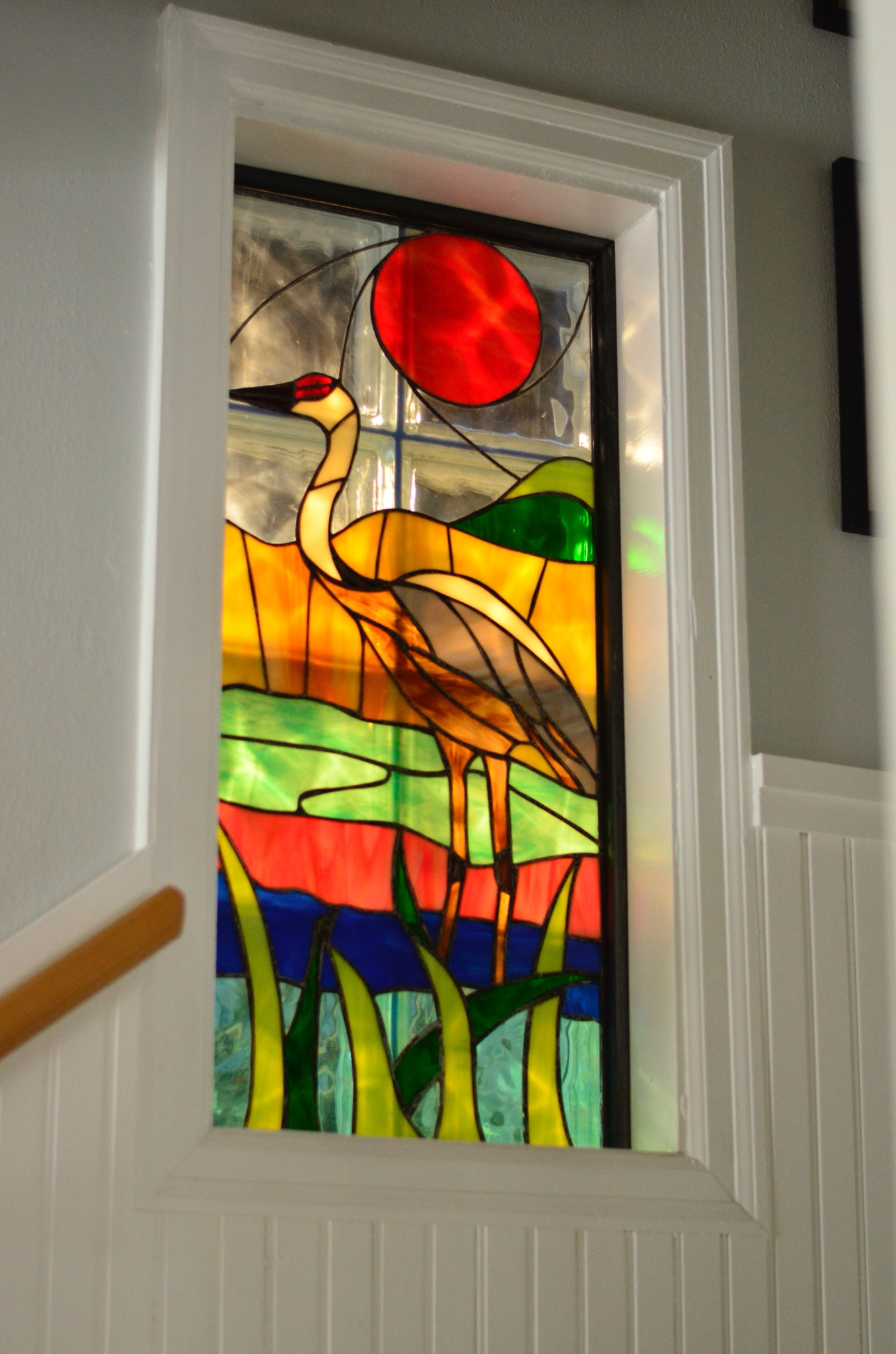 stained glass by M'Lou Wilkie