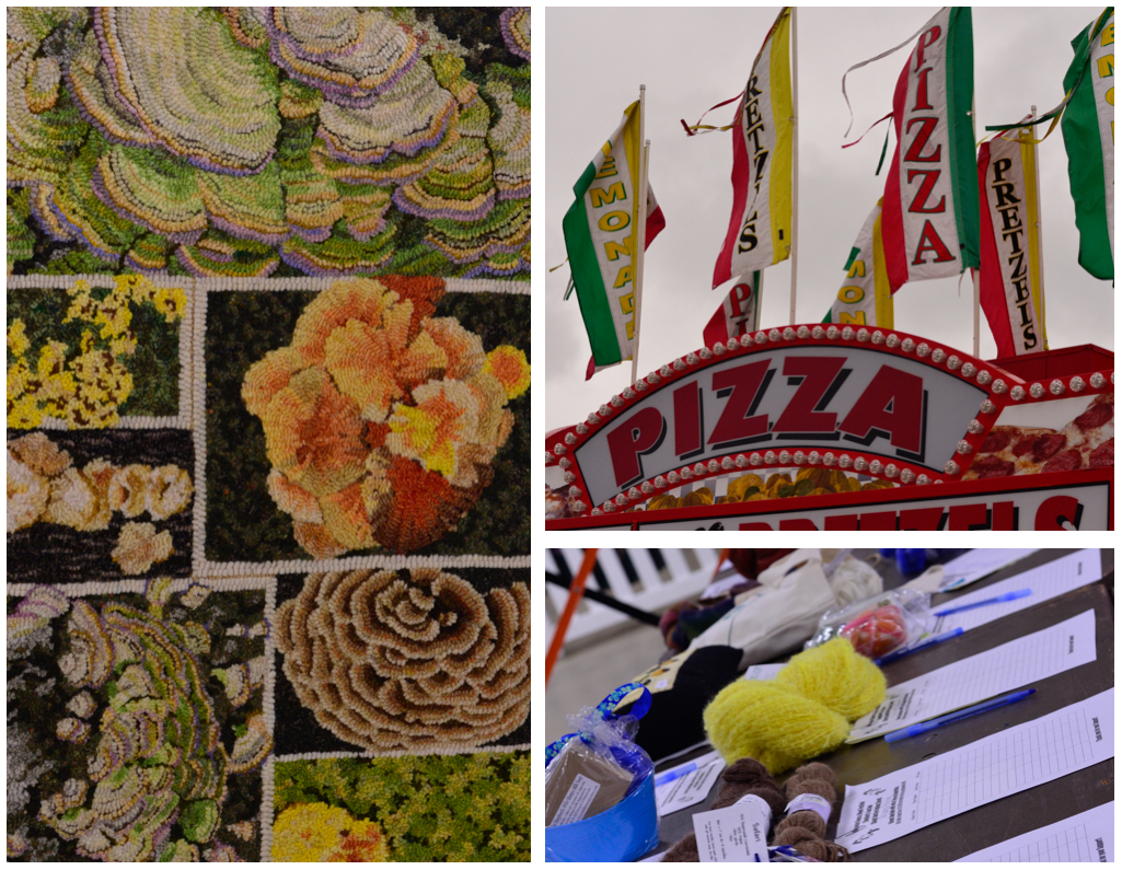 things to see/ rug hooking, fried everything, and silent auction