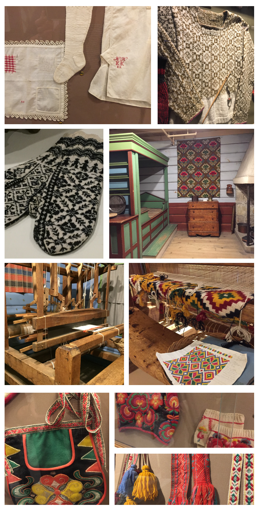 textiles of Norwegian heritage throughout the museum