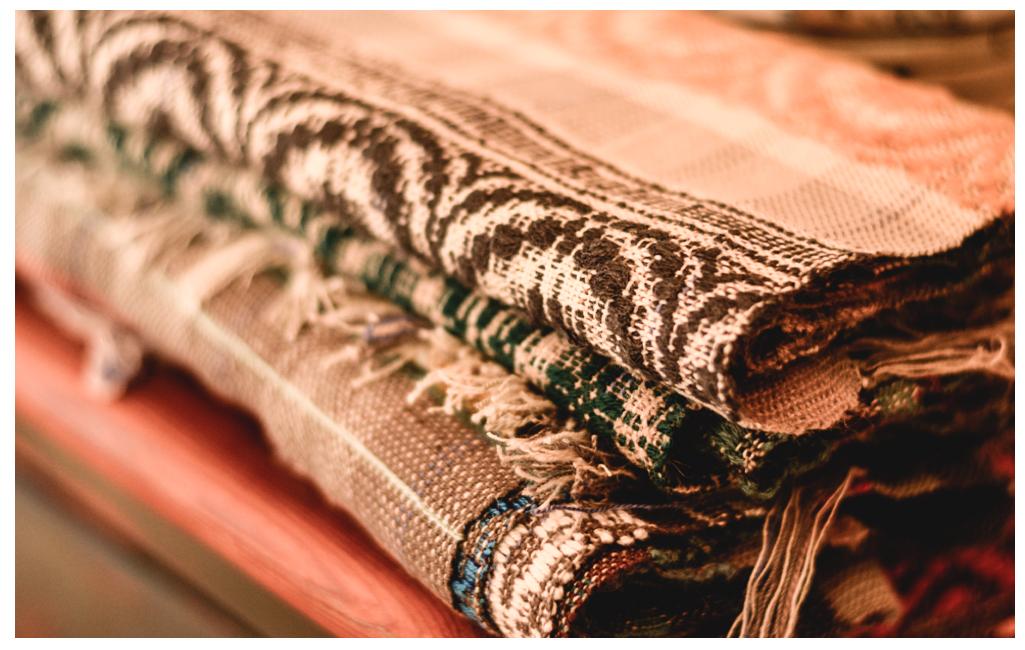 Susans' overshot scarves