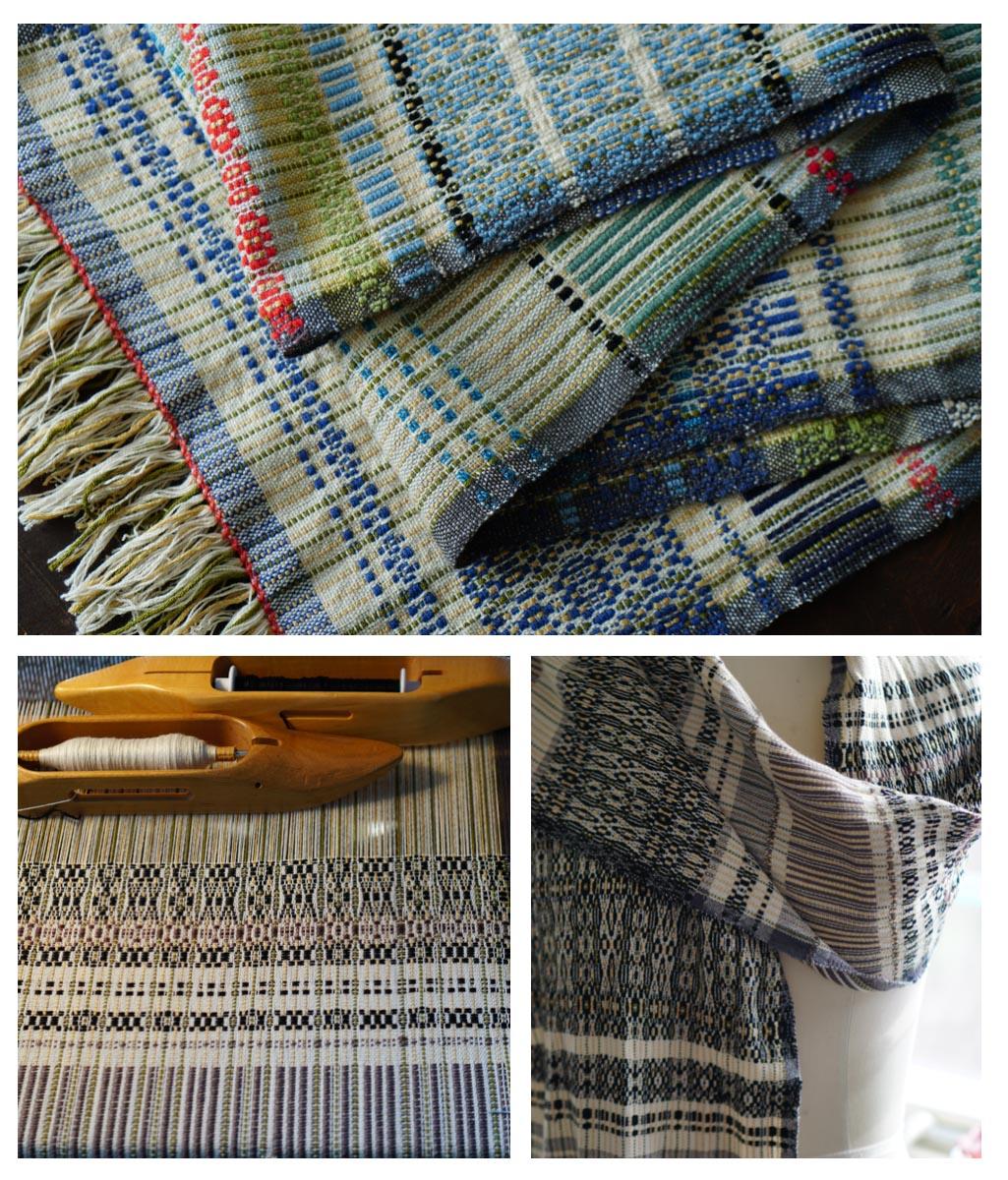 My Bateman weave scarves
