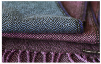 hand dyed warp-tencel scarf